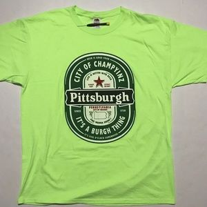 Pittsburgh Heineken Style Drinking Men's T Shirt